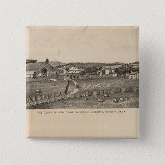 Shields, Clemmer residences 15 Cm Square Badge