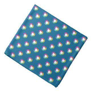 Shifted Pastel Polka Dots Pattern Cust BG Ocean Bl Bandanna
