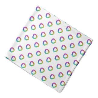 Shifted Pastel Polka Dots Pattern Custom Backgrnd Bandana