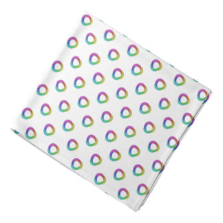 Shifted Pastel Polka Dots Pattern Custom Backgrnd Bandanas