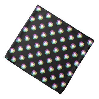 Shifted Pastel Polka Dots Pattern Custom BG Black Bandana