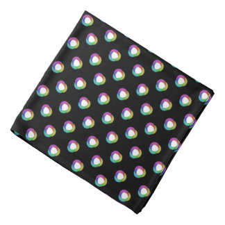 Shifted Pastel Polka Dots Pattern Custom BG Black Do-rags