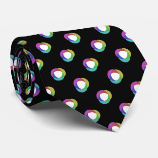 Shifted Pastel Polka Dots Pattern Custom BG Black Tie