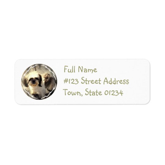 Shih Tsu Dog Return Address Label