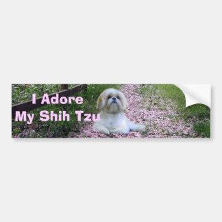 Shih Tzu Adore Bumper Sticker