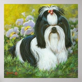 Shih Tzu Art Print on Canvas