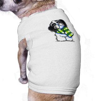 Shih Tzu B/w Happy Winter Scarf Dog T-shirt