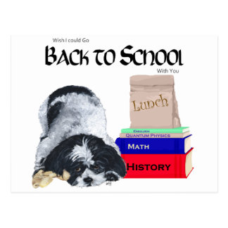 Shih Tzu Back to School Postcard