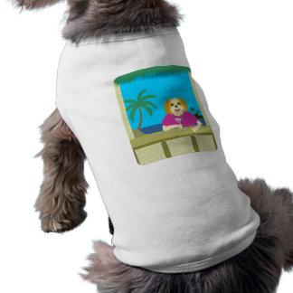 Shih Tzu Bamboo Tiki Hut Dog T-shirt