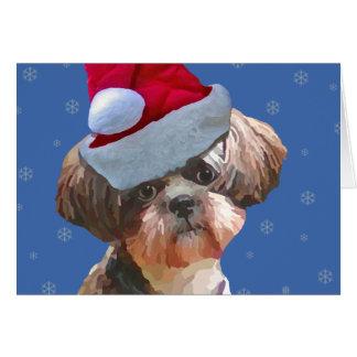 "Shih Tzu ""Betsy"" Christmas Card"
