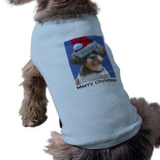"""Shih Tzu """"Betsy"""" Christmas Dog Sweater Sleeveless Dog Shirt"""