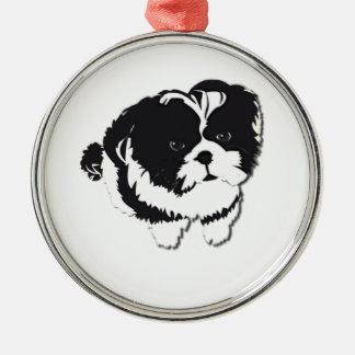 Shih Tzu Black White Dog Pet Christmas Ornament