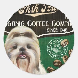 Shih Tzu Brand – Organic Coffee Company Round Sticker