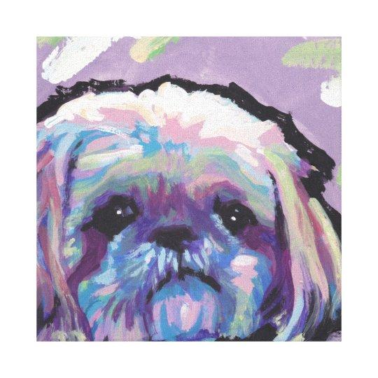 Shih Tzu Bright Colourful Pop Dog Art Canvas