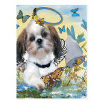 Shih Tzu Butterfly Chaser Cards Post Cards