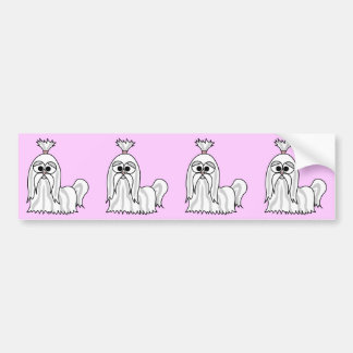 Shih Tzu Cartoon Bumper Sticker