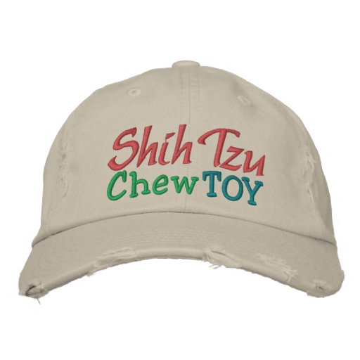 Shih Tzu Chew Toy Cap by SRF Embroidered Hat
