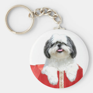 Shih Tzu Christmas gift Key Ring