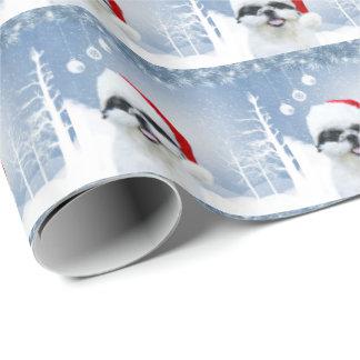 Shih Tzu Christmas Wrapping Paper