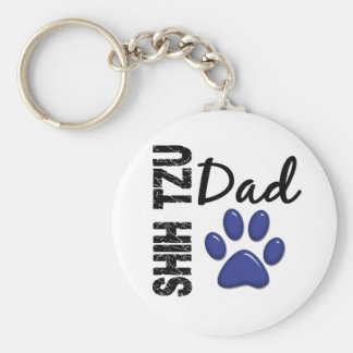 Shih Tzu Dad 2 Key Ring