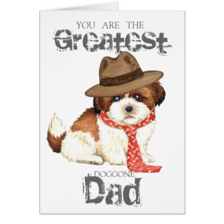 Shih Tzu Dad Card