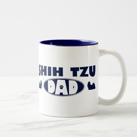 Shih Tzu Dad Two-Tone Coffee Mug