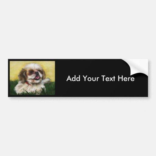 Shih Tzu Dog Art - Sophie Bumper Stickers