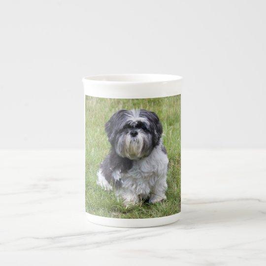 Shih Tzu dog beautiful cute photo bone china
