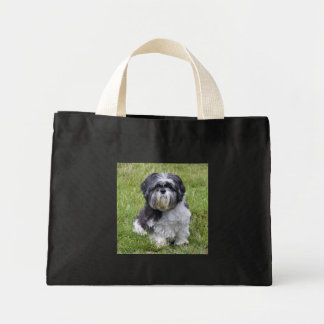 Shih Tzu dog beautiful photo shopping tote bag