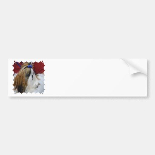 Shih Tzu Dog Bumper Sticker