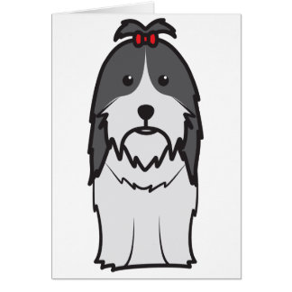 Shih Tzu Dog Cartoon Card
