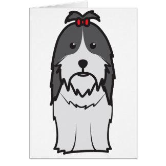 Shih Tzu Dog Cartoon Greeting Card