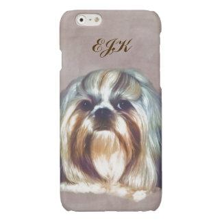 Shih Tzu Dog Customizable Monogram iPhone 6 Plus Case