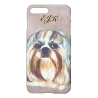 Shih Tzu Dog Customizable Monogram iPhone 7 Plus Case
