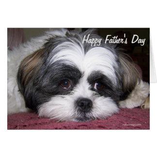 Shih Tzu Dog Father s Day Greeting Card