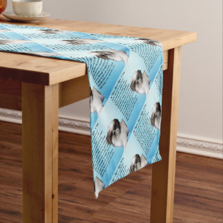 Shih Tzu Dog - Nan Poem Short Table Runner