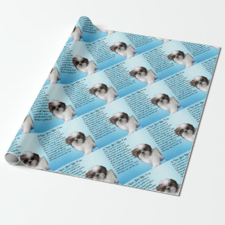 Shih Tzu Dog - Nan Poem Wrapping Paper
