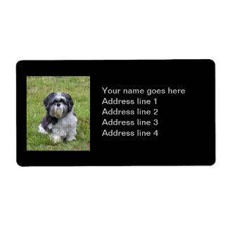 Shih Tzu dog personalized custom address labels