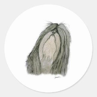 Shih Tzu dog, tony fernandes Classic Round Sticker