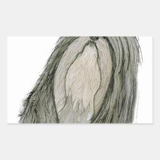 Shih Tzu dog, tony fernandes Rectangular Sticker
