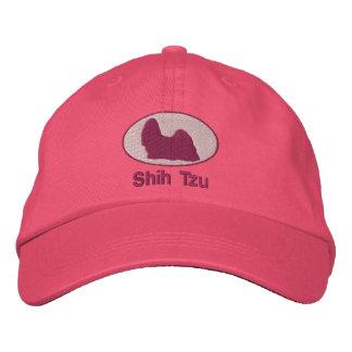 Shih Tzu Embroidered Hat Pink