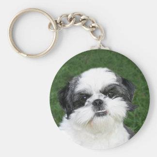 Shih Tzu face keychain