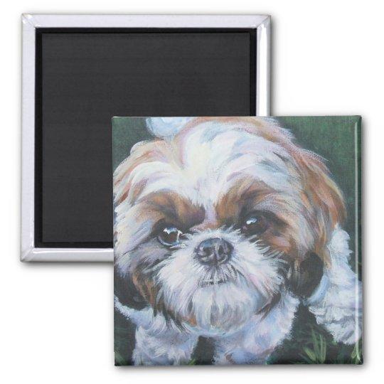 shih tzu fine art dog painting magnet