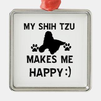 shih tzu gift items Silver-Colored square decoration