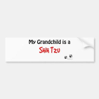 Shih Tzu Grandchild Bumper Sticker