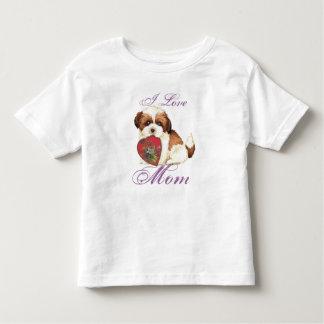 Shih Tzu Heart Mom T Shirt