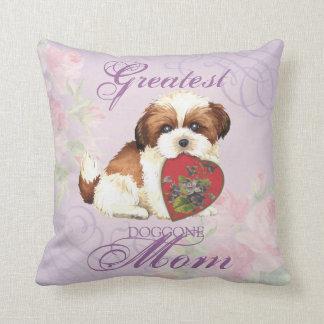 Shih Tzu Heart Mom Throw Pillow