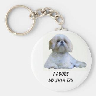 Shih Tzu I Adore Keychain