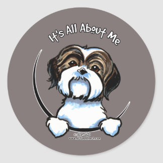 Shih Tzu Its All About Me Classic Round Sticker