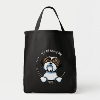 Shih Tzu Its All About Me Grocery Tote Bag